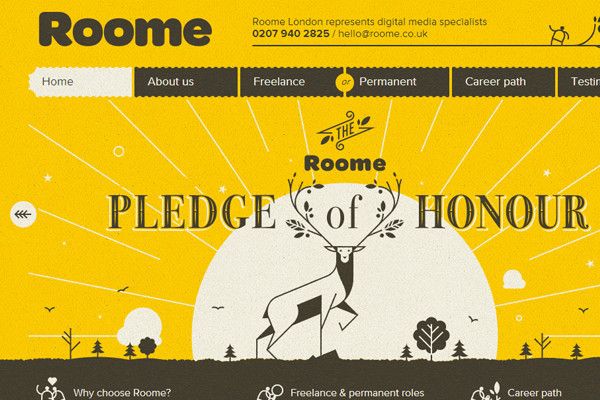 roome london yellow texture website layout background design
