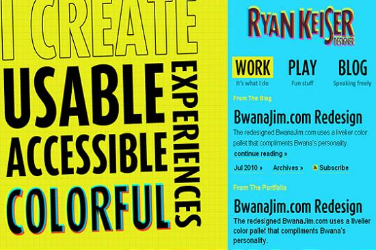 Big Typography 14 Splendid Examples of Usage of Big Fonts in Websites