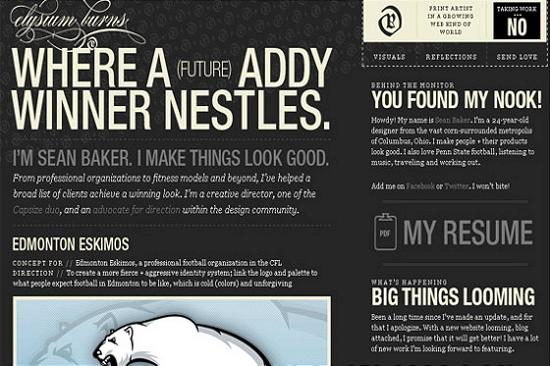 Big Typography 18 Splendid Examples of Usage of Big Fonts in Websites