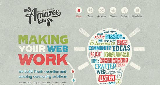 Big Typography 29 Splendid Examples of Usage of Big Fonts in Websites