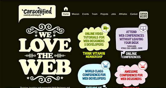 Big Typography 30 Splendid Examples of Usage of Big Fonts in Websites