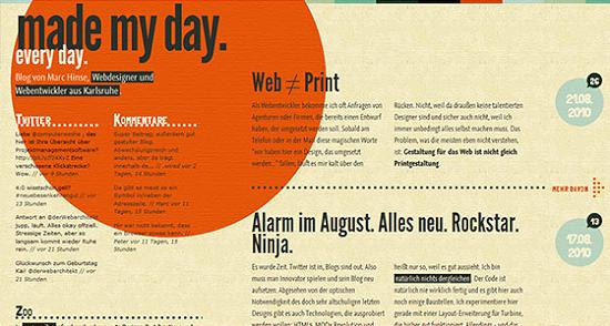 Big Typography 33 Splendid Examples of Usage of Big Fonts in Websites