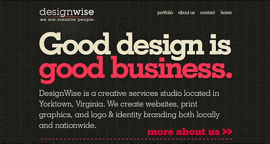 Big Typography 34 Splendid Examples of Usage of Big Fonts in Websites