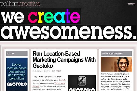 Big Typography 4 Splendid Examples of Usage of Big Fonts in Websites