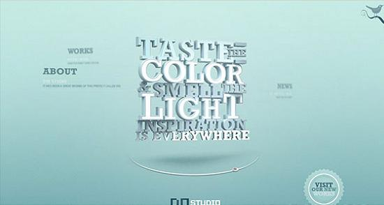 Big Typography 44 Splendid Examples of Usage of Big Fonts in Websites