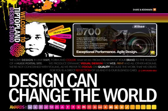 Big Typography 6 Splendid Examples of Usage of Big Fonts in Websites