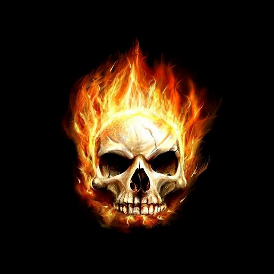flaming skull Fresh Wallpapers Collection of Apple iPad