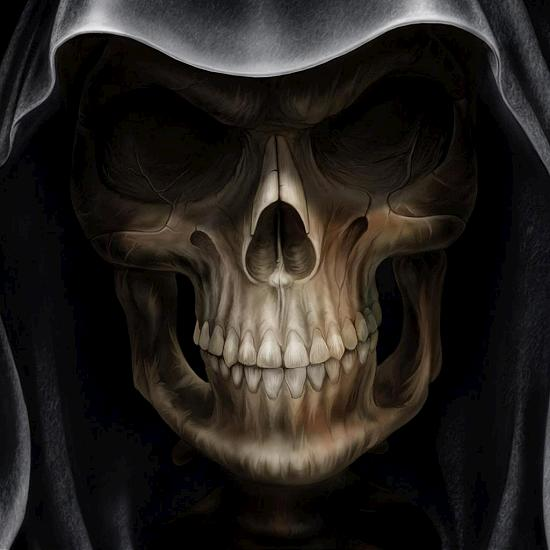 hooded skeleton Fresh Wallpapers Collection of Apple iPad