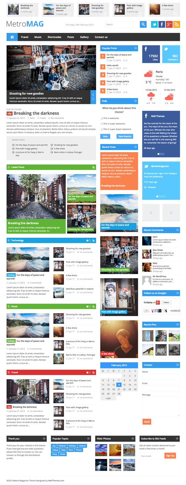 MetroMag 10 Free and Premium WordPress Themes Inspired By Windows 8 Metro UI
