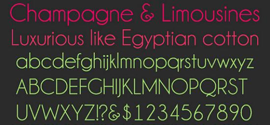 champagne and limousines Quality Collection of Free Fonts for Designers