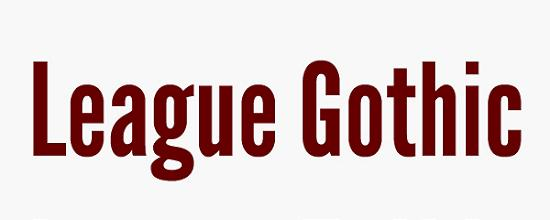 league gothic Quality Collection of Free Fonts for Designers