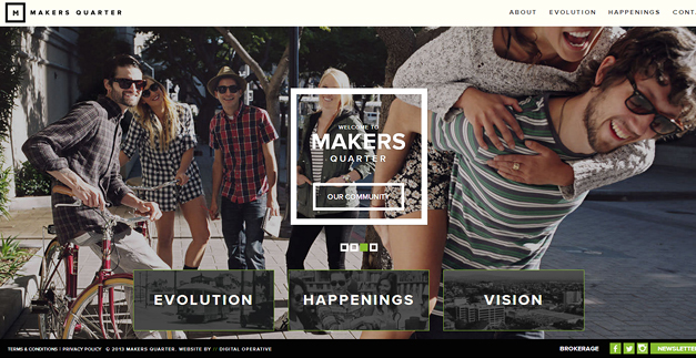 makers quarter 30 Outstanding Full screen Websites