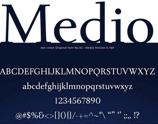 medio stout free high quality font web design Quality Collection of Free Fonts for Designers