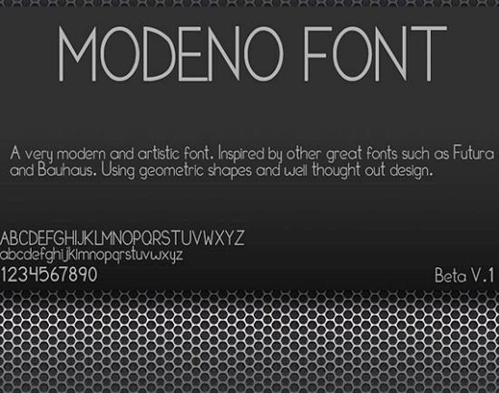 modeno pro free high quality font web design Quality Collection of Free Fonts for Designers
