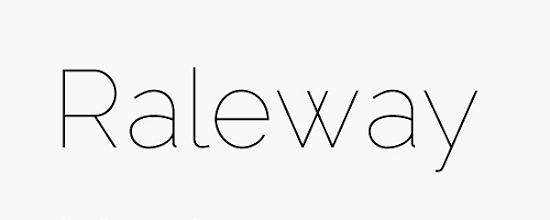 raleway Quality Collection of Free Fonts for Designers