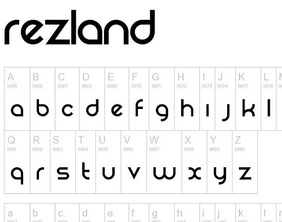 rezland free high quality font web design Quality Collection of Free Fonts for Designers
