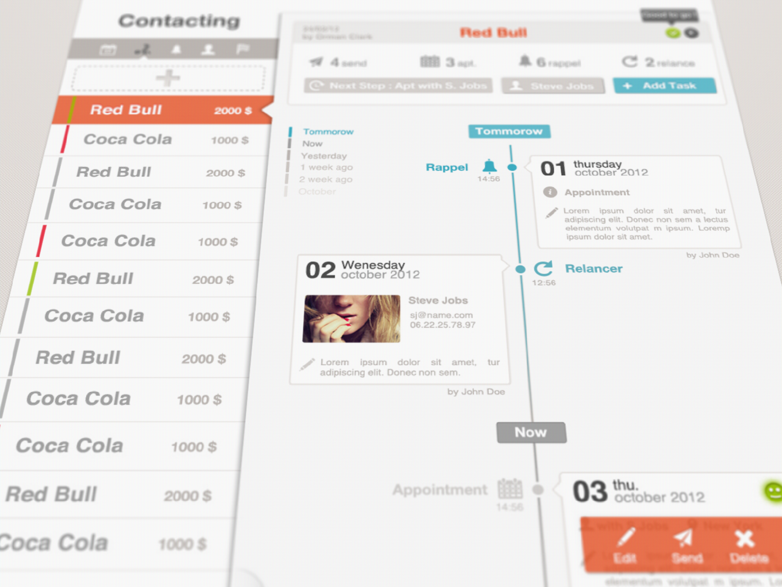 timeline hd1 35 Graphically Detailed Dashboard Designs