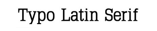 typo latin serif Quality Collection of Free Fonts for Designers