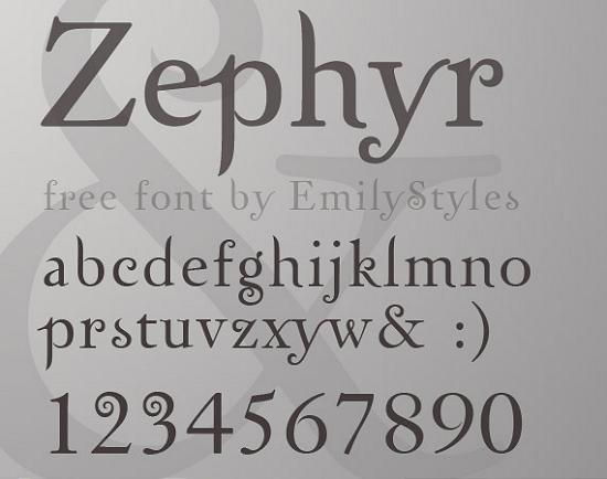 zephyr free high quality font web design Quality Collection of Free Fonts for Designers