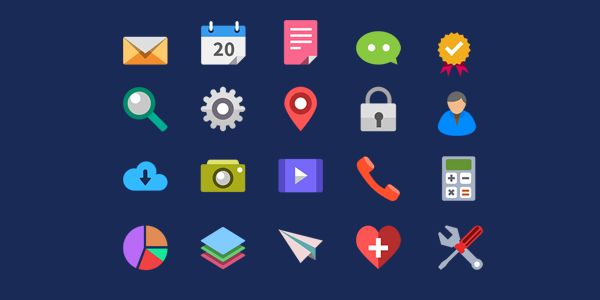 flat icon psd for download