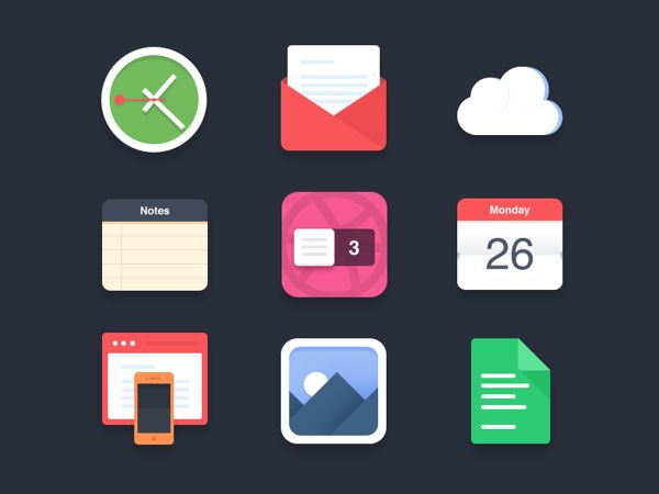 dribbble free icons