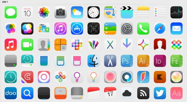 redesigned apple icons