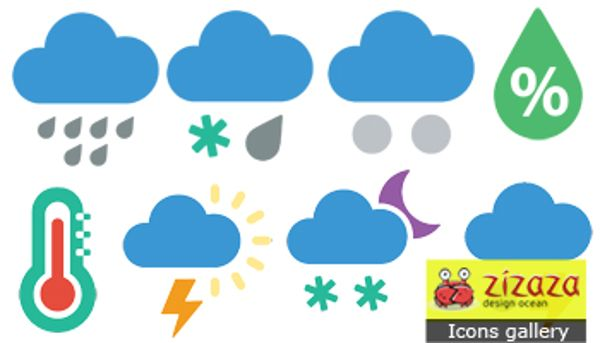 weather icons of metro style