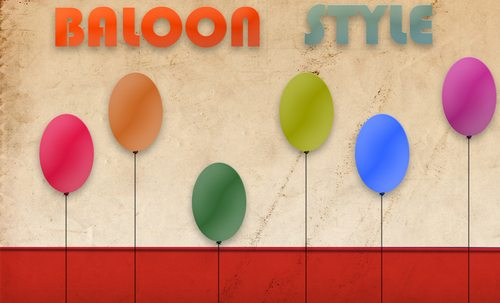 Ballon style by widepngstock Splendid collection of Layer Styles for Photoshop
