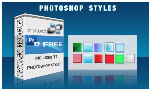CHRISTMAS PHOTOSHOP STYLES by DigitalPhenom Splendid collection of Layer Styles for Photoshop