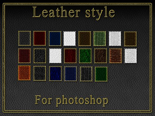 Leather styles by Lucifer017 Splendid collection of Layer Styles for Photoshop