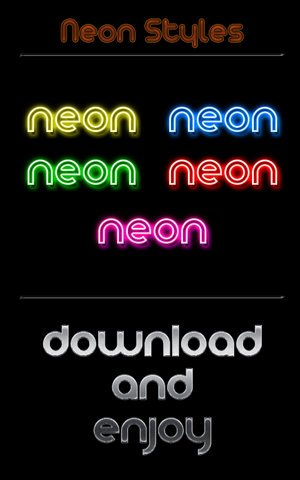 Neon Styles by Wearwolfaa Splendid collection of Layer Styles for Photoshop