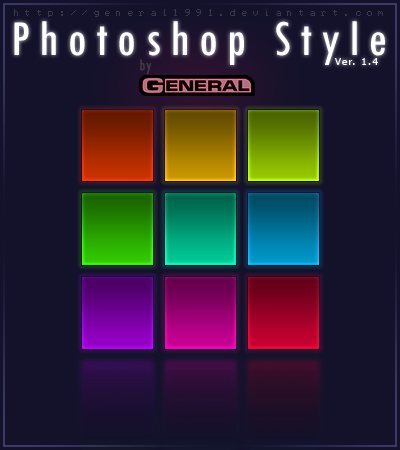 Photoshop Style Ver  1 4 by General1991 Splendid collection of Layer Styles for Photoshop