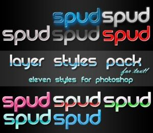 Photoshop Text Style Pack by spud100 Splendid collection of Layer Styles for Photoshop