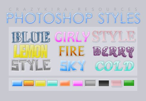 Styles  4 by crazykira resources1 Splendid collection of Layer Styles for Photoshop