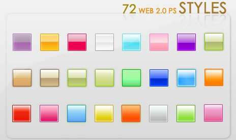 Web 2 0 Styles by crazykira resources Splendid collection of Layer Styles for Photoshop
