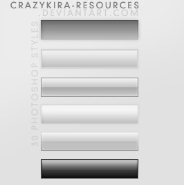 Web Styles by crazykira resources Splendid collection of Layer Styles for Photoshop