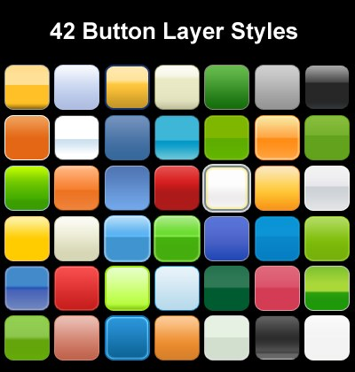 button layer styles01 Splendid collection of Layer Styles for Photoshop