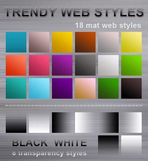 trendy web styles MAT Splendid collection of Layer Styles for Photoshop