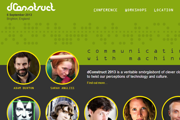 dconstruct 2013 website conference layout