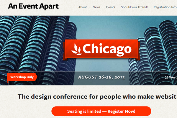 an event apart 2013 chicago website