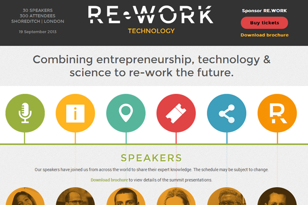 re.work technology summit conference 2013 website