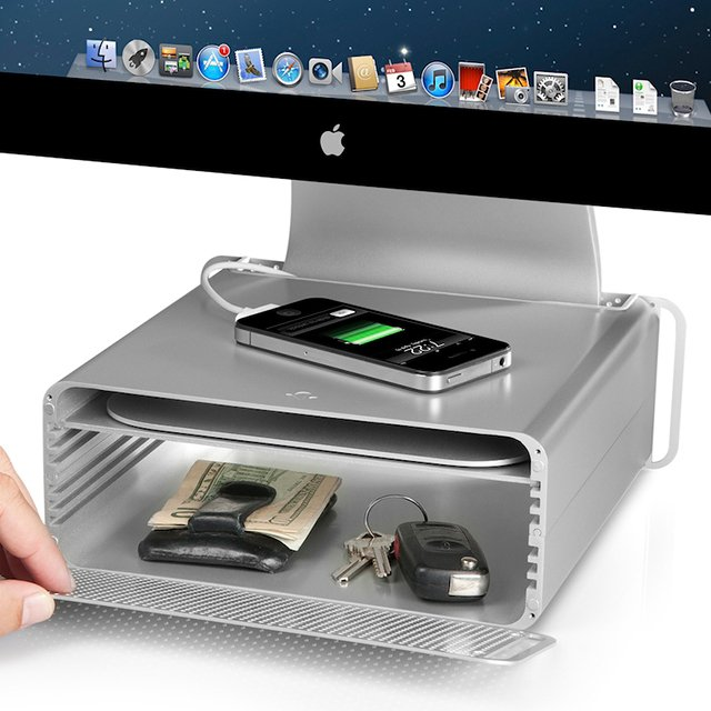 Creative product designs #33- HiRise Mac Stand & Storage System by Twelve South