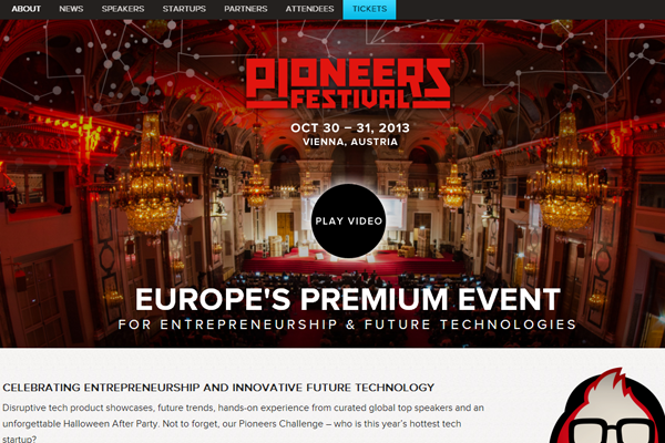 pioneers festival website 2013 layout