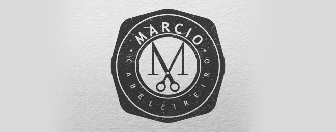 mens salon barber hair logo