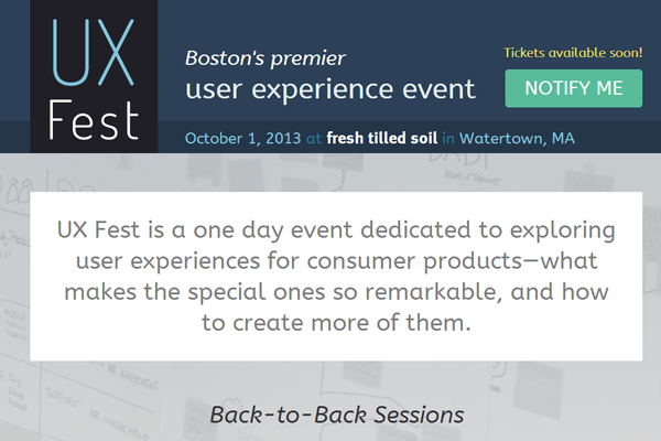 ux fest festival boston 2013 website