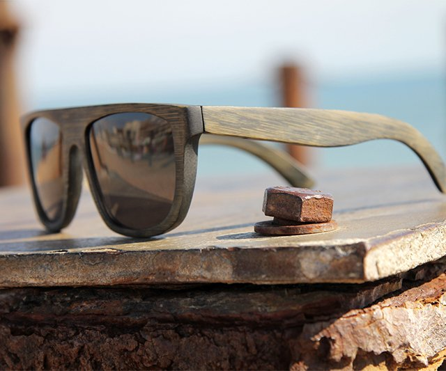 Creative product designs #33-  Data Bamboo Vintage Sunglasses by Waiting for the Sun