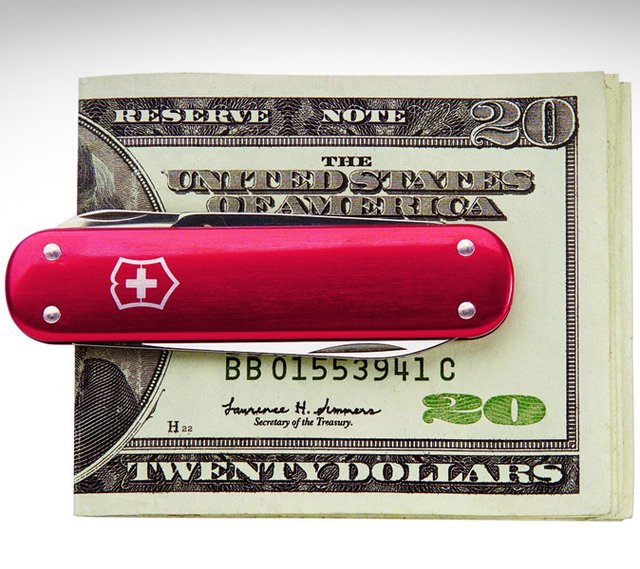 Creative product designs #31-  Swiss Army Money Clip