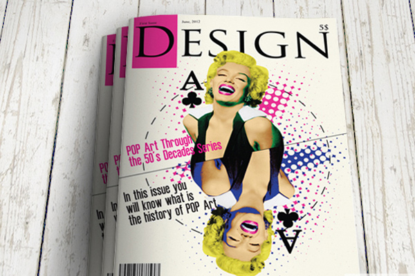 design history cover magazine artwork
