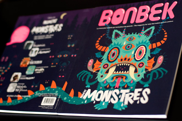 bonbek magazine monster illustration cover