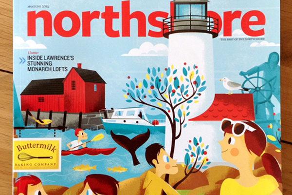 northshore magazine cover illustration